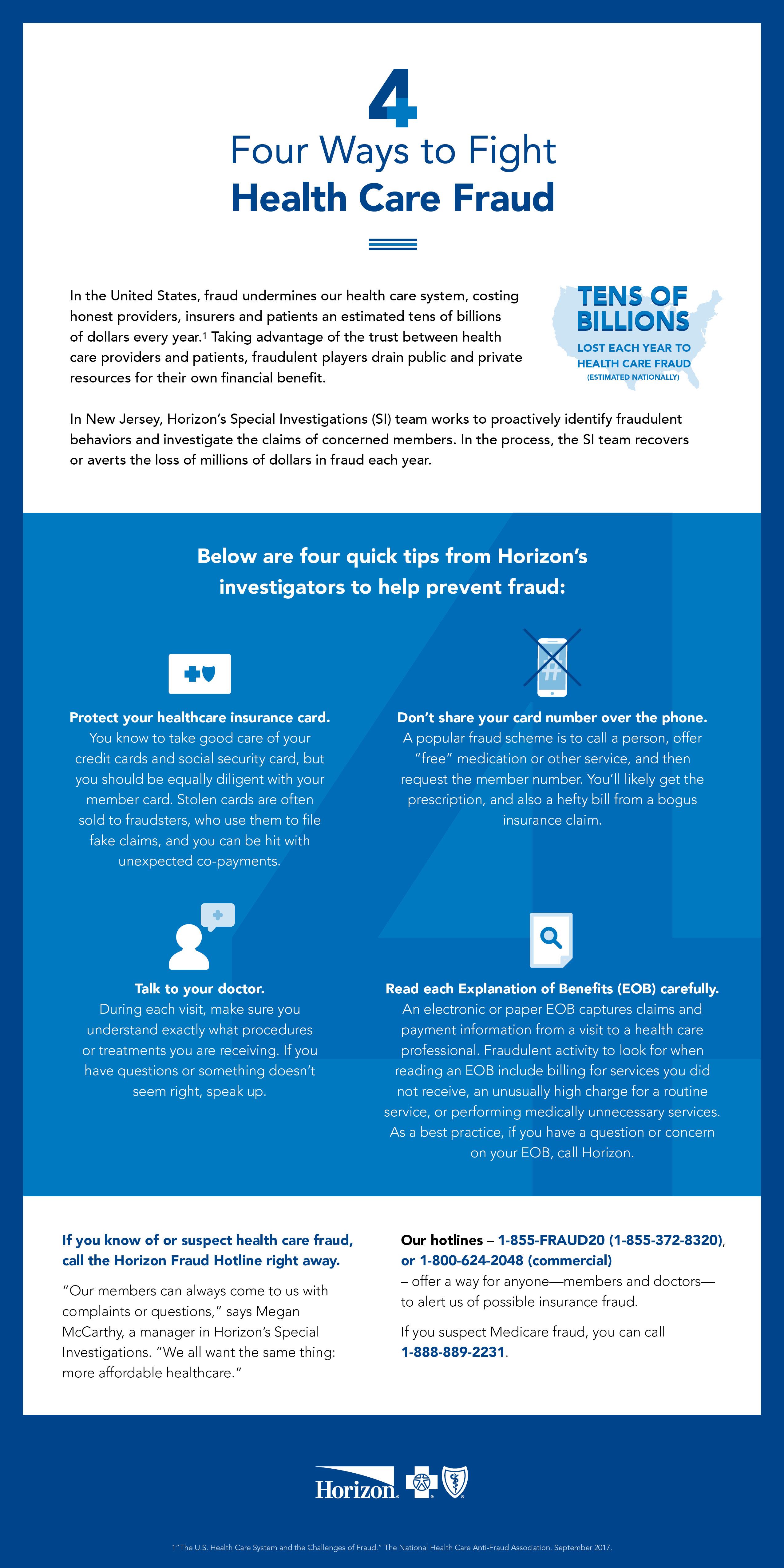 Horizon Blue Cross Blue Shield | Healthcare Fraud